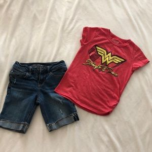 Girl's Wonder Woman Outfit Bundle